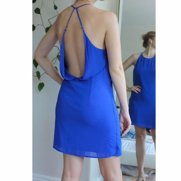 The Impeccable Pig Dresses & Skirts - Vibrant blue low back dress size L